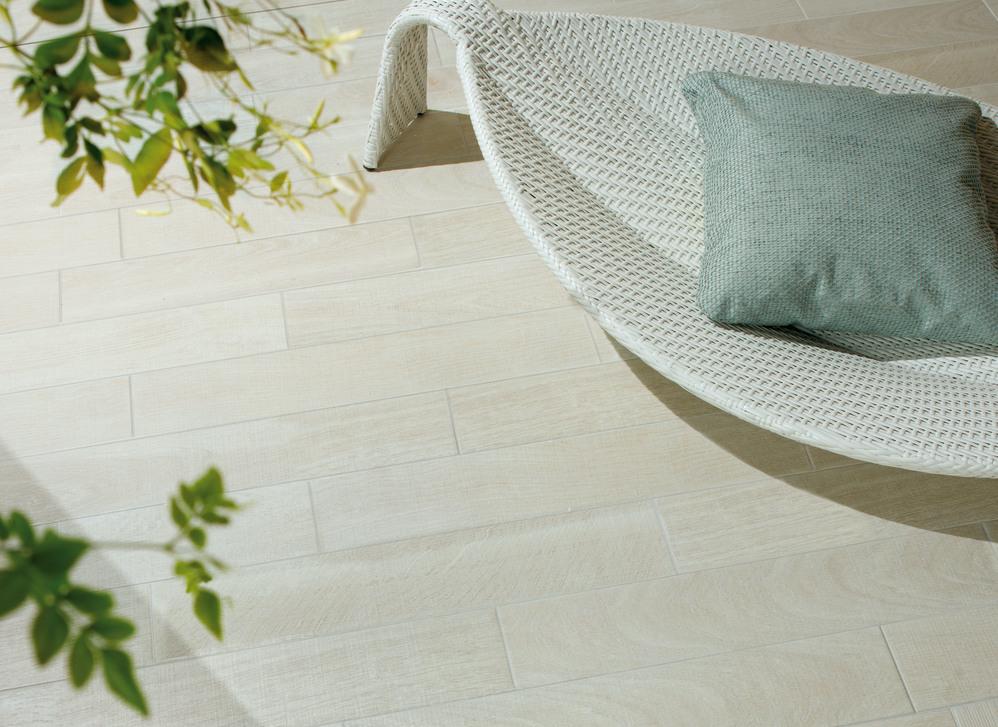 decoración terrazas - pavimento porcelánico madera Grespania